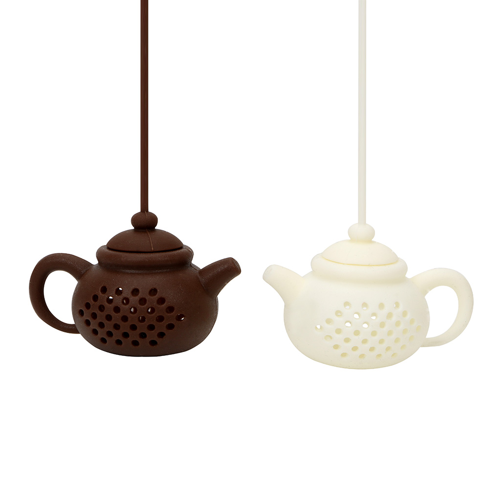 Tea Accessories Creative Teapot Shape Tea Infuser Teaware Empty Silicone Tea Bags Tea Strainer Herbal Filter Diffuser