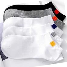 5 Pairs/lot Men Socks Breathable Sports socks Solid Color Boat socks White Black Comfortable Cotton Ankle Socks Factory Price цены