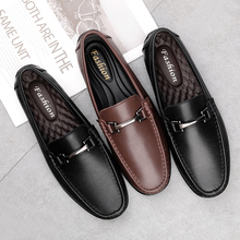 men shoes genuine leather moccasiin loafers fashion casual l