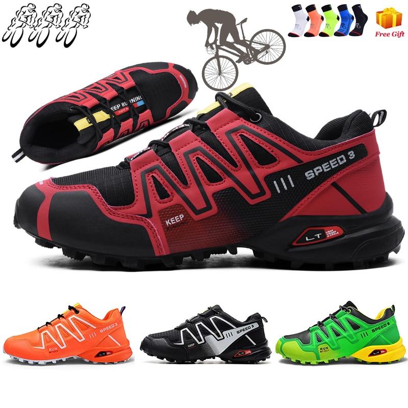 2021 New Mountain Biking Shoes Men's Large Size Outdoor Sports Trekking Hiking MTB Cycling Shoes Flat Road Cycling Shoes Men