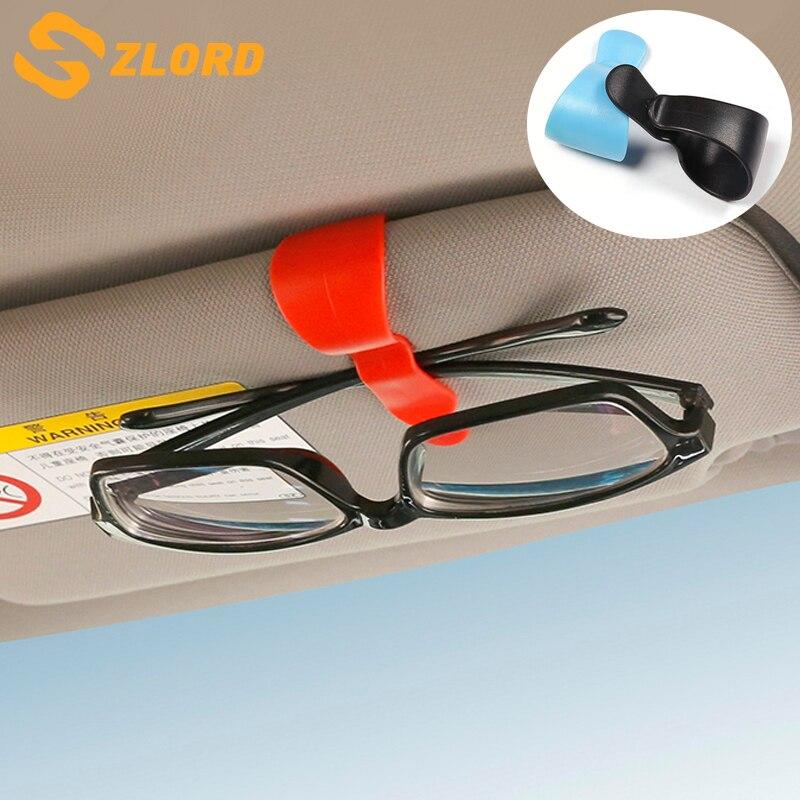 Car Glasses Cases Fastener Cip Ticket Card Clamp Auto Accessories Car Sun Visor Sunglasses Holder ABS Eyeglasses Clip Portable