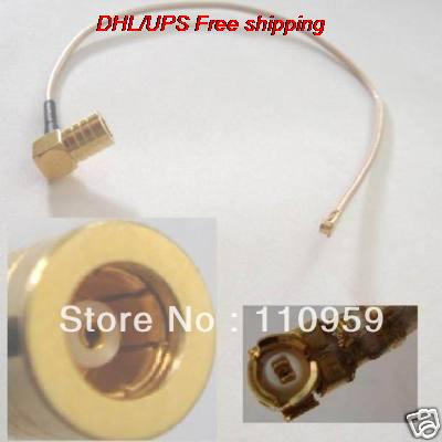 DHL/EMS Hot  100 Pcs SMB Female Right Angle To IPX U Fi Crimp RG178 Pigtail-A2