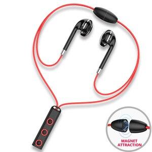 Басовые стереонаушники Bluetooth, спортивные беспроводные наушники, гарнитура с шейным ободом, беспроводные наушники-вкладыши, гарнитура с мик...