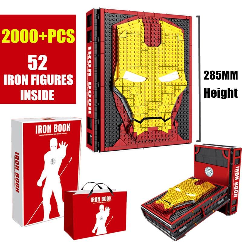 Novo moc homem de ferro coleções livro apto legoings marvel avengers blocos de construção tijolos brinquedos sy1361 presentes christams para crianças