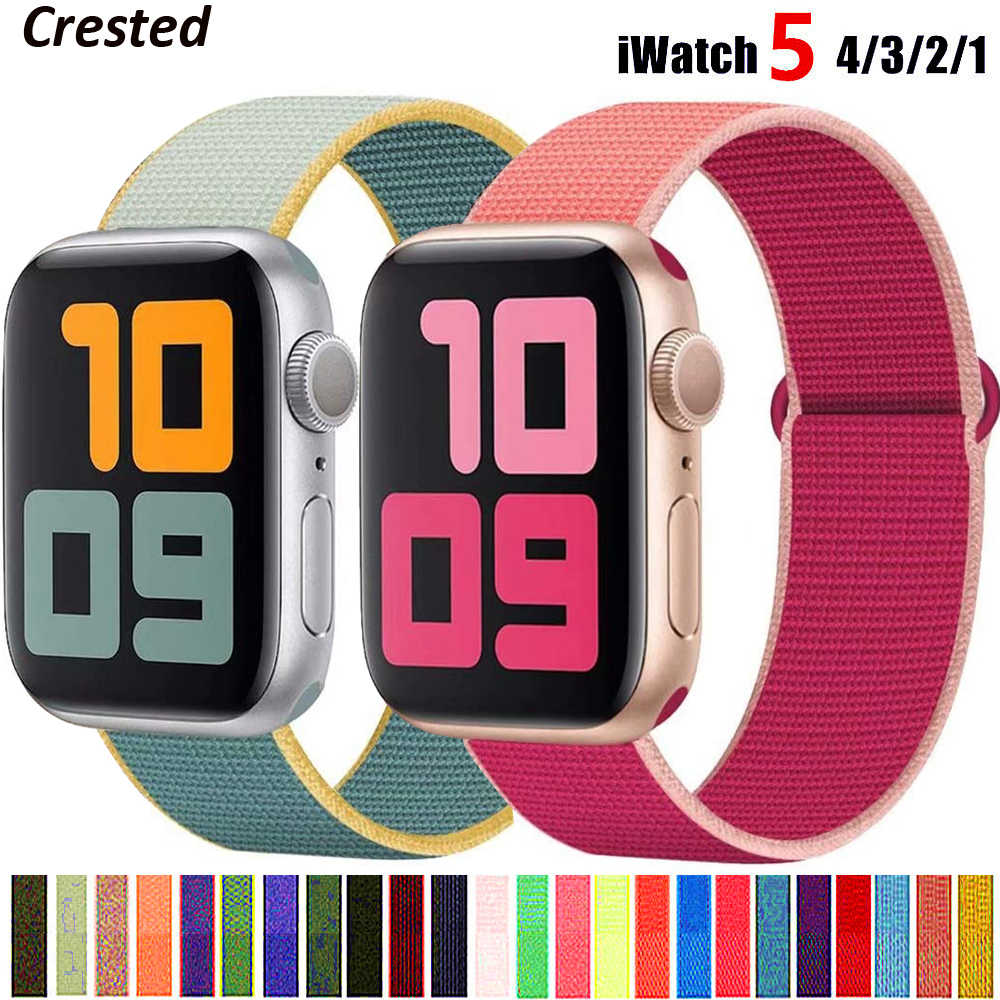 Nylon Band Voor Apple Horloge Band 44 Mm 40Mm 42Mm 38Mm Sport Loop Riem Polsband Armband Voor iwatch Serie 5 4 3 2 38 40 42 44 Mm