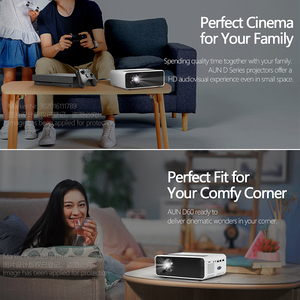 Image 4 - AUN MINI Projector D60, 2800 Lumens 1280x720P, LED Proyector for 1080P Home Cinema, Optional D60S Android WIFI 3D Video Beamer.