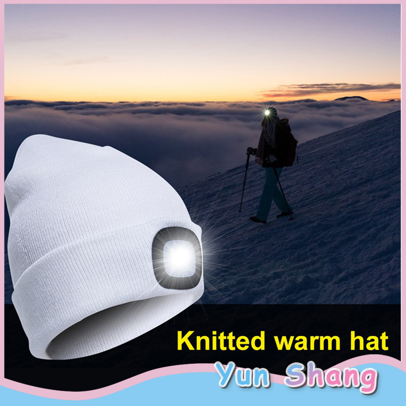 Outdoor LED Lighting Cap Hat Autumn Spring Warm Beanies Outdoor Fishing Running Beanie Hat Flash Men Women Camping Climbing Caps