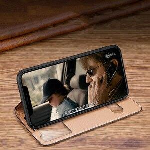 Image 5 - Caso para iphone 11 capa de couro genuíno capa de luxo para iphone 11 pro max capa flip janela ver casos de telefone com suporte