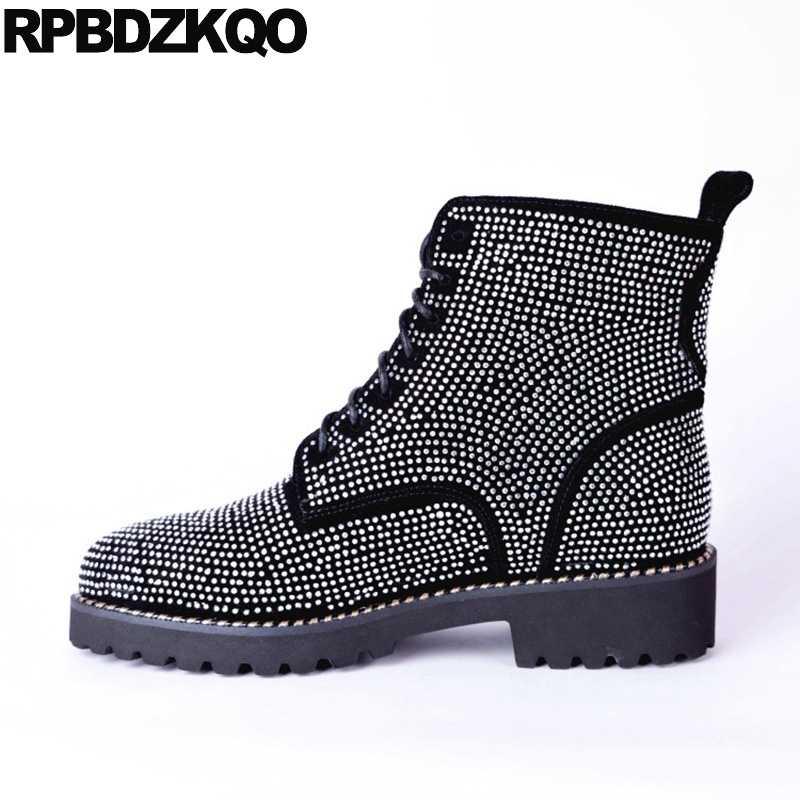 Sparkly Military Shoes Rhinestone Plus