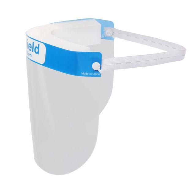 Full Face Protective Shield Visor Plastic Adjustable Transparent Face Shield to Prevent Saliva Adult Children