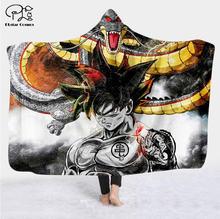 Одеяло с капюшоном 3d рисунком из аниме для взрослых красочное