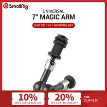 """SmallRig Adjustable Friction Articulating Magic Arm 7"""" Long with Cold Shoe Mount & Standard 1/4"""" 20 Threaded Screw Adapter  1497"""