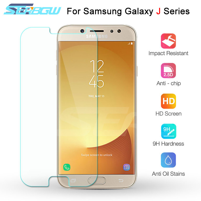 Tempered Glass On The For Samsung Galaxy J3 J5 J7 2015 2016 2017 Screen Protector Samsung J2 J8 J4 J6 Plus 2018 Protective Film