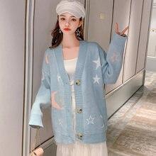 Женский милый свитер вязаная одежда корейский стиль свободный