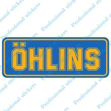 Funny 13cm x 5cm For Ohlins Creative Car Stickers Scratch-Proof Decal Graffiti Anime Interesting Car Styling For JDM SUV RV