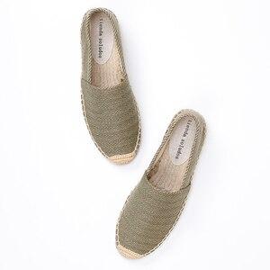 Image 3 - ผู้หญิง espadrilles ขี้เกียจ zapatos mujer ผู้หญิงผ้าใบลำลองรองเท้าการ์ตูนผ้าลินินผู้หญิง Espadrille Fisherman สุภาพสตรีรองเท้า Plimsolls L