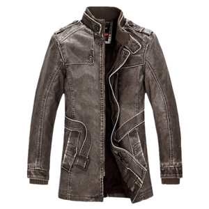 Image 5 - FGKKS Winter Men Leather Suede Jacket Fashion Brand Quality Fleece Lined Motorcycle Faux Leather Coats Male Leather Jackets