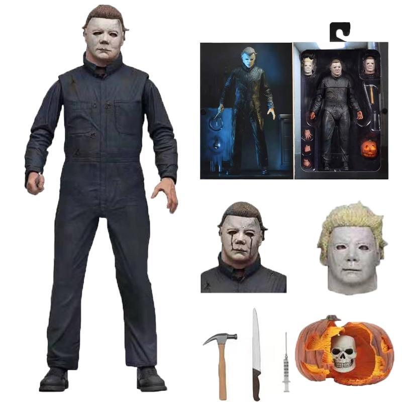 18cm Original NECA Halloween Ultimate Michael Myers II figura de acción muñeca de juguete regalo de Navidad