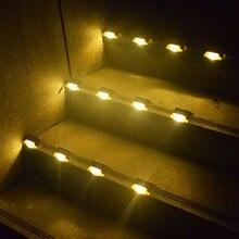 4 шт светодиодная подсветка лестницы на солнечной лампы ip65