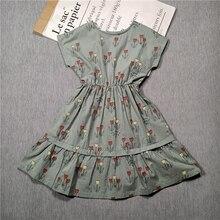BOBOZONE 2020 אביב ובקיץ סגנון חדש ילדים בנות שמלת אופנה דפוס פרח הדפסת שמלה