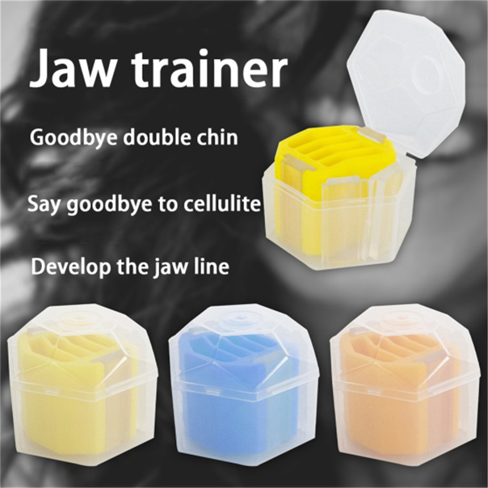 Face Jaw Exercise Facial Toner Exerciser Level 3 Jaw Trainer Facial Muscle Chewer Fitness Ball Toning Jaw Muscle Ball