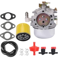 52-053-28 Carburetor Carb 52 050 02-S Oil Filter Fuel Line Kit for Kohler num MV18 MV20 1711 Garden Tractors 691Cc