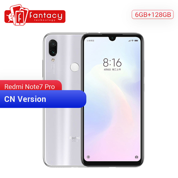 Global Rom Xiaomi Redmi Note 7 Pro 6GB 128GB Snapdragon 675 48MP IMX 586 Camera Octa Core 6.3'' FHD Screen Mobile Phone QC 4.0