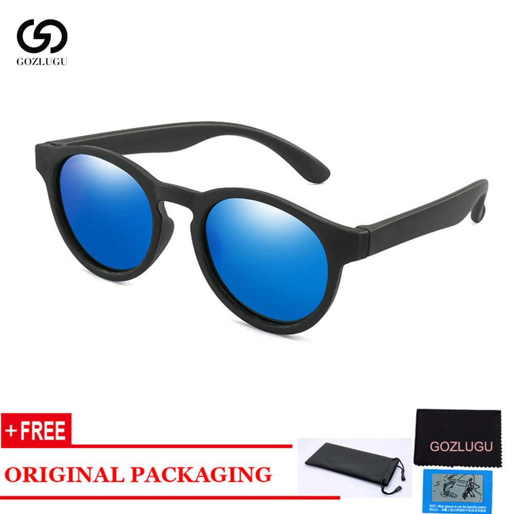 GOZLUGU ילדים משקפי שמש מקוטב בני בנות עגול בטיחות שמש משקפיים ילד תינוק סיליקון משקפי משקפיים Gafas UV400 2020.
