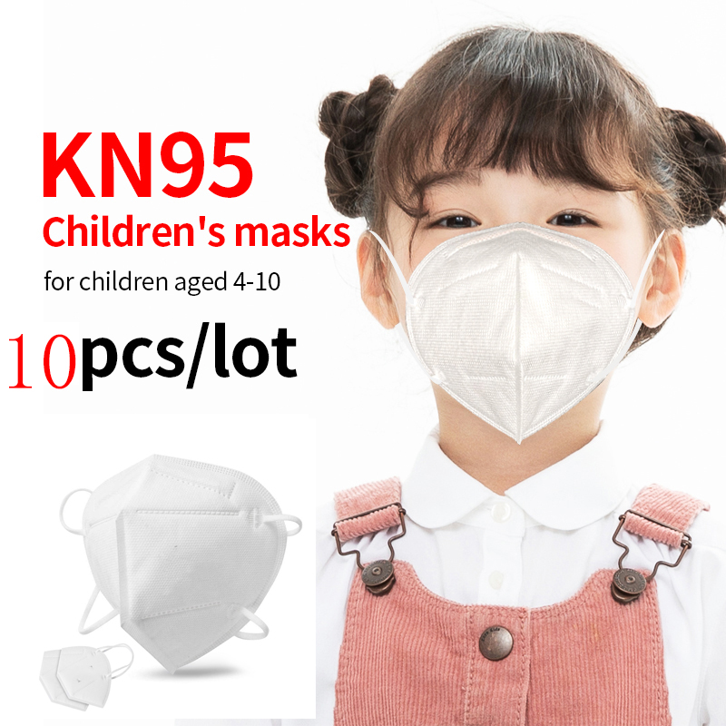10pcs KN95 children disposable face mouth mask medical dust-proof corona virus masks for kids particle mask boy girl mask title=