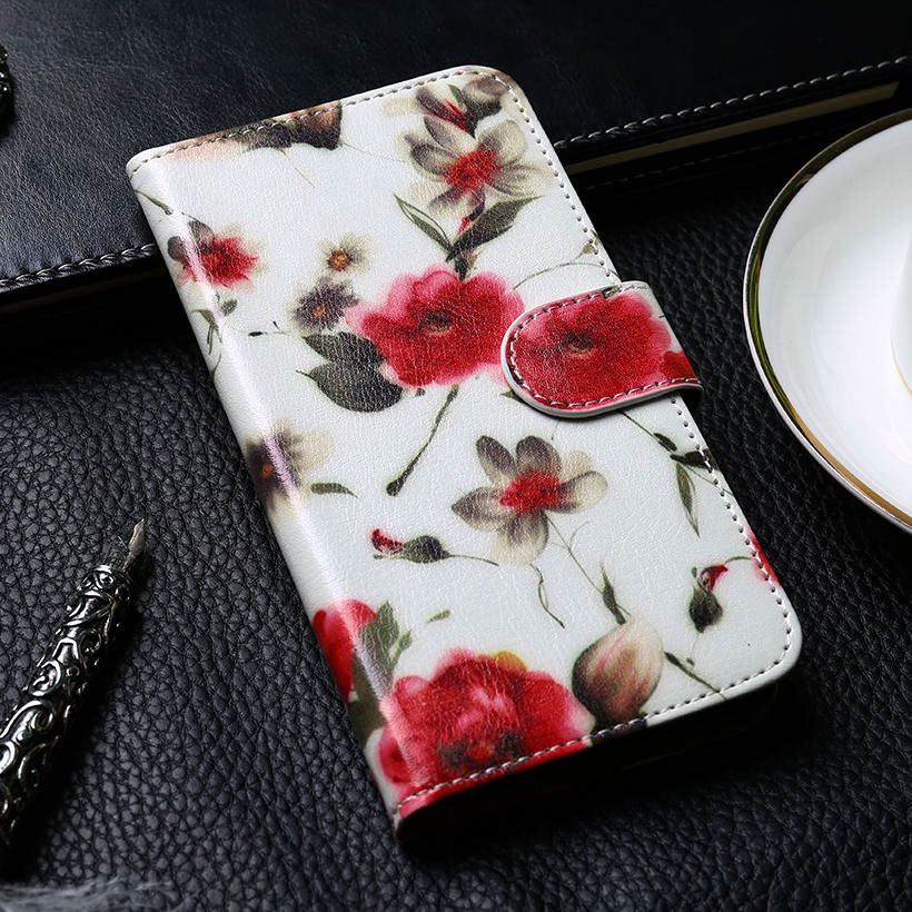 Flip Case For Meizu M6 Note Case Housing For Meizu Note 6 Cover PU leather Coque DIY Paint Flower Cloud Meilan Note 6
