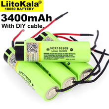 1 10 sztuk Liitokala nowy oryginalny NCR18650B 3.7V 3400mAh 18650 akumulator litowy wielokrotnego ładowania do baterii + DIY Linie