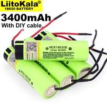 1 10PCS Liitokala 새로운 원래 NCR18650B 3.7V 3400mAh 18650 충전식 리튬 배터리 배터리 + DIY Linie
