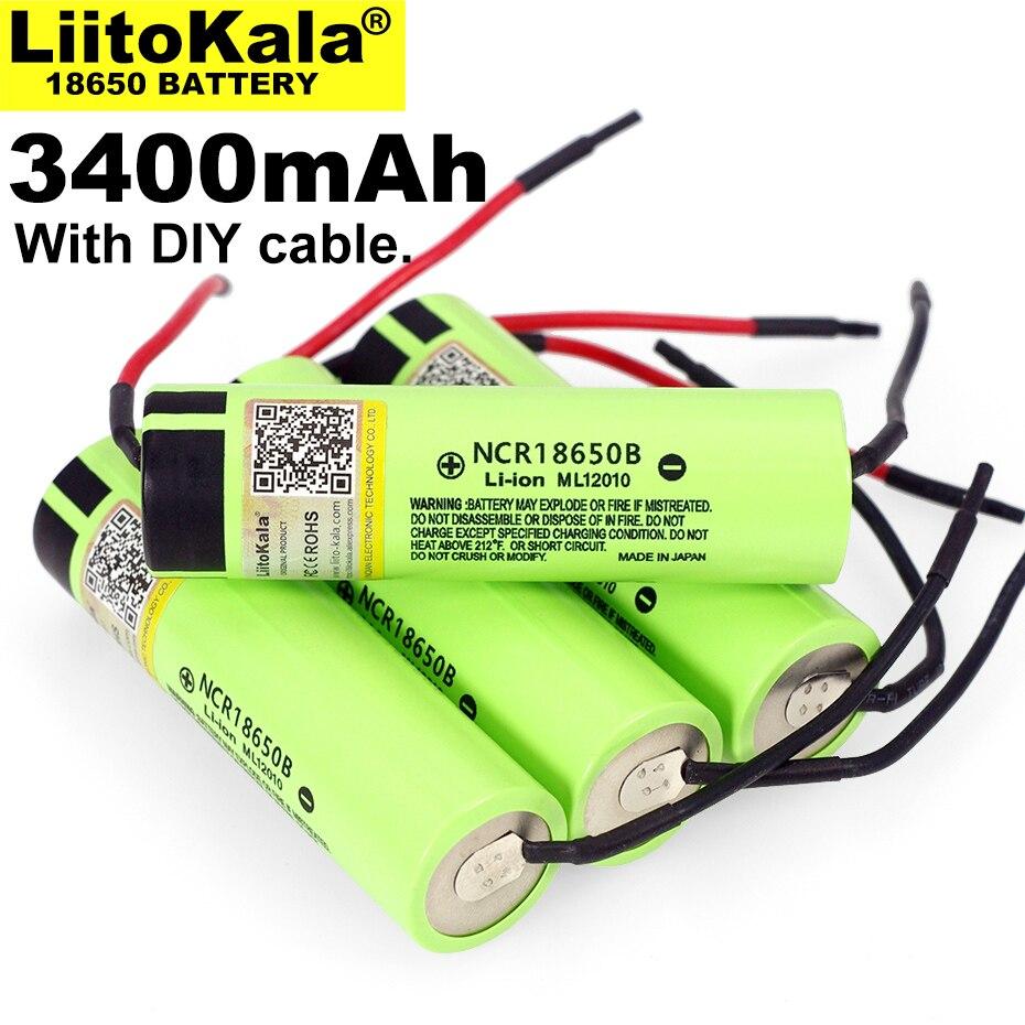 Liitokala, nuevo original NCR18650B 3,7 V 3400mAh 18650, batería de litio recargable para batería + Linie DIY, 1 10 Uds.|Baterías recargables|   - AliExpress