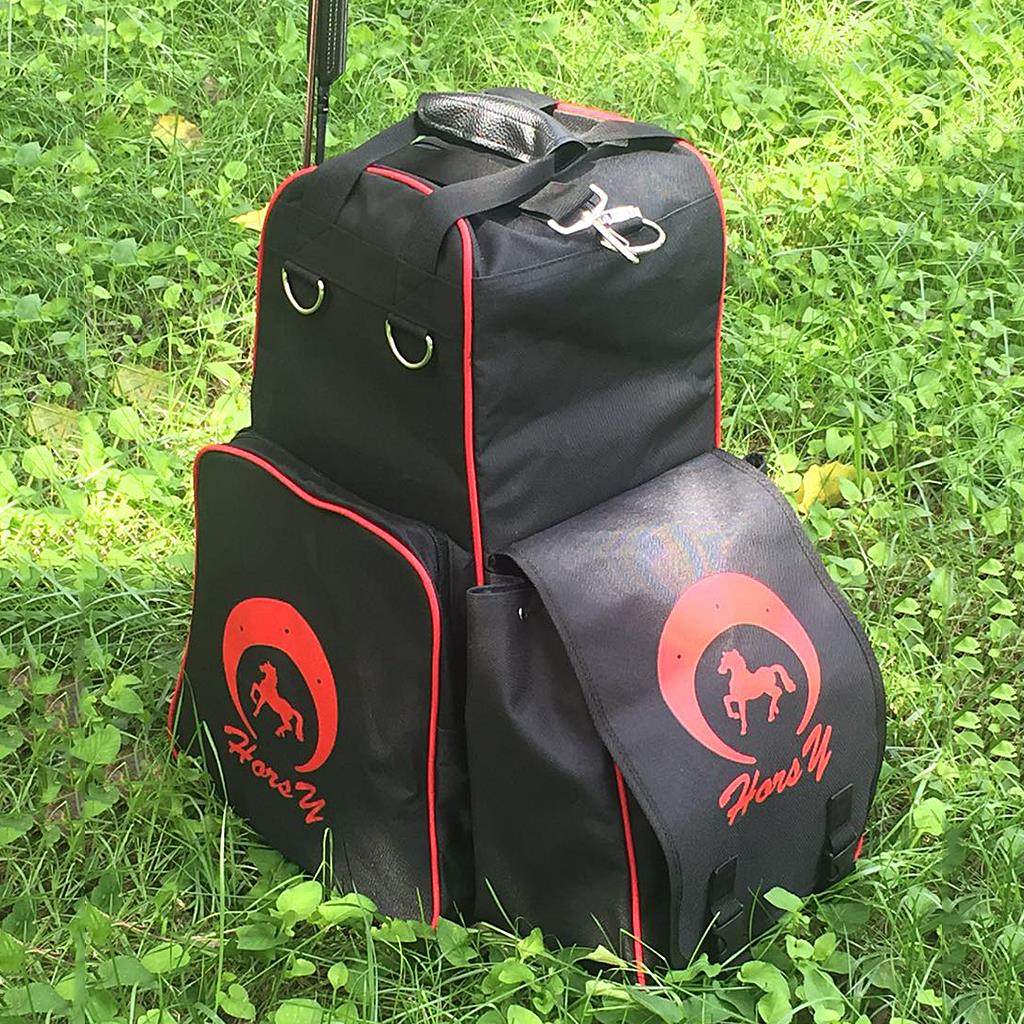 Horse Riding Boots Carry Bag Professional  Oxford Equestrian Equipment Backpack With Helmet Compartment Hot
