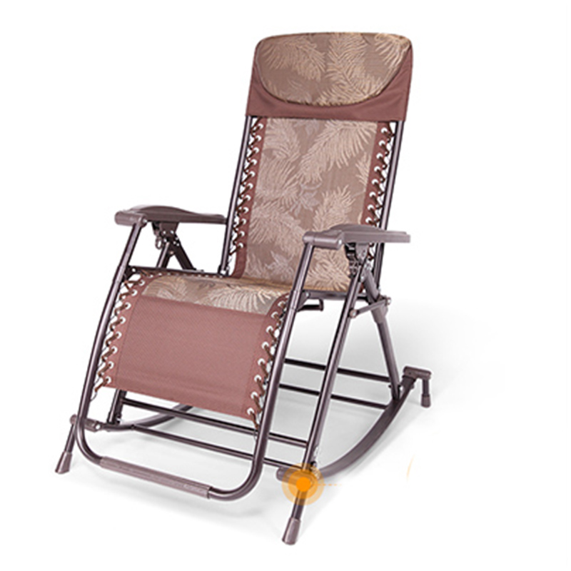 Rocking Chair Lounge Chair Rocking Chair Balcony Leisure Chair Adult Folding Siestas Leisure Chair Bearing Capacity Up To 180kg