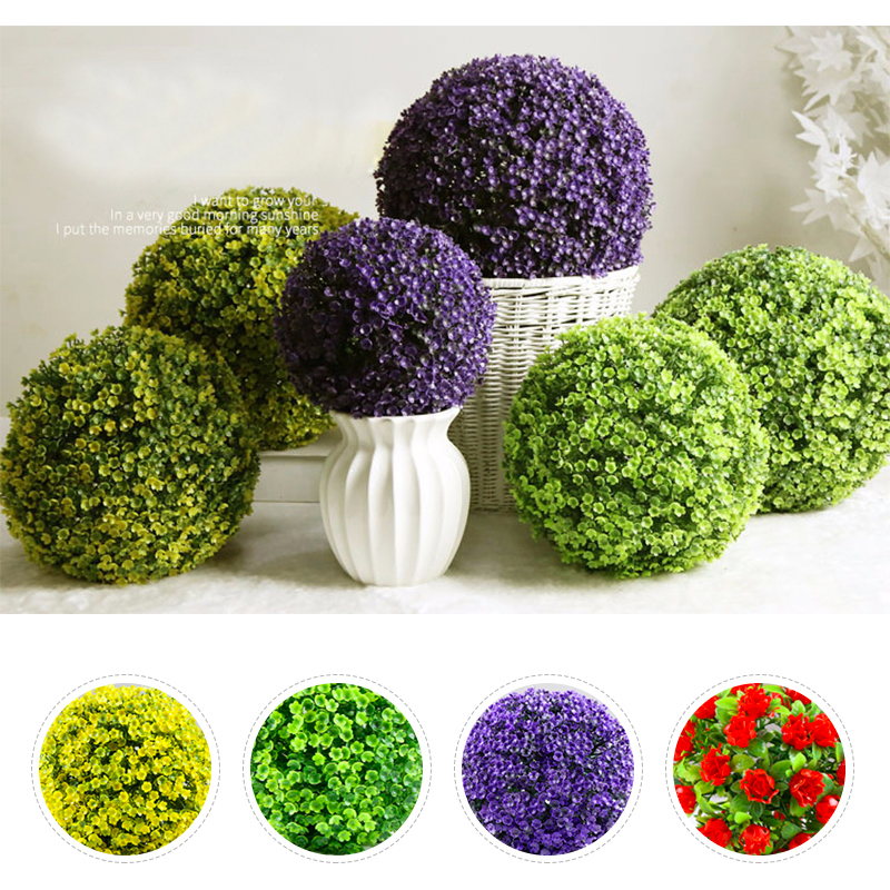 Artificial Plant Ball Plastic Party Home Event Decoration Mall Supplies Moss Ball Flowers Tree Green Grass Ball Wedding Decor