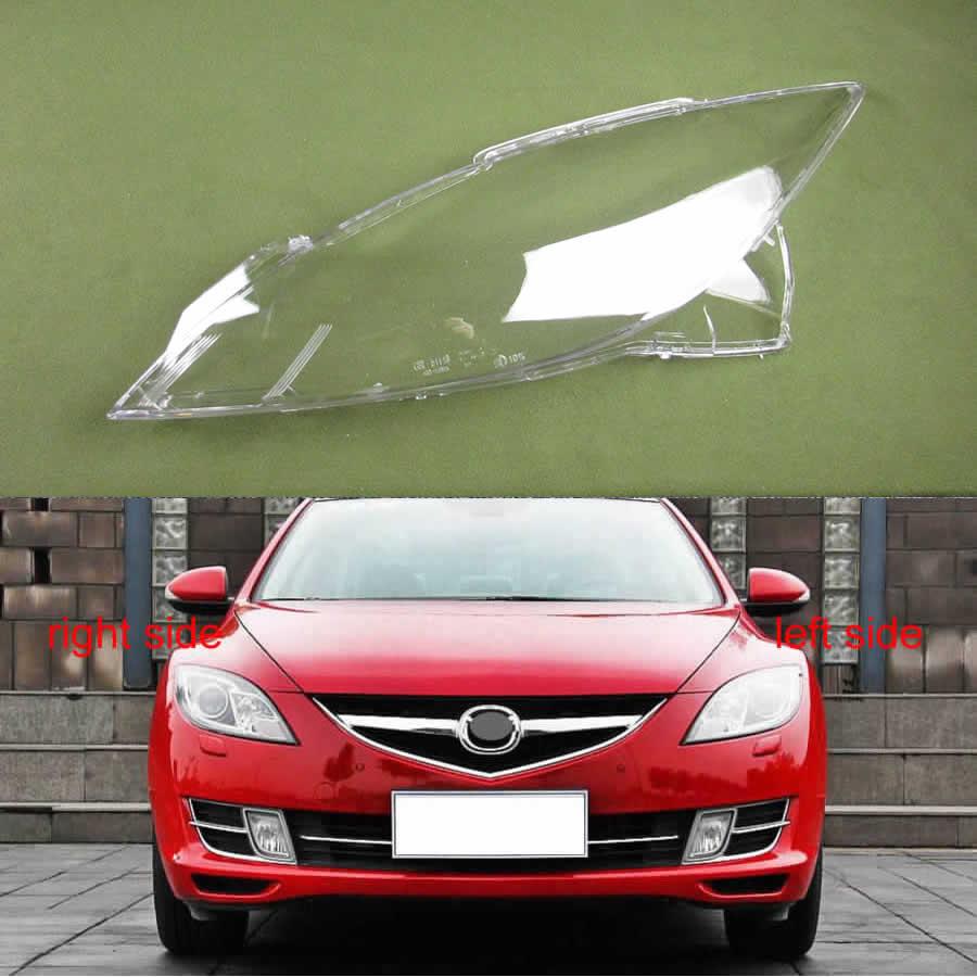 Per Mazda 6 M6 2009-2012 Berlina 4Dr Fari Coperchio Trasparente Paralume Della Lampada Borsette Maschere di Copertura Del Faro Lente Del Faro di Vetro