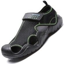 2021 New Men Sandals Summer Flip Flops Slippers Men Outdoor Casual Shoes Cheap Male Sandals Water Shoes Sandalia Masculina 40-48