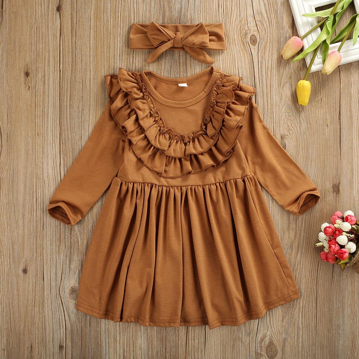 Baby Girl filles à manches courtes volants volants Haut Tunique Robe T-shirt kid enfant Tee