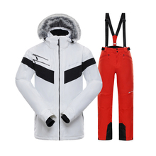 Men Ski Suit Winter Brands High Quality Windproof Waterproof Warmth Snow Jackets and Pants Male Skiing and Snowboarding Suits