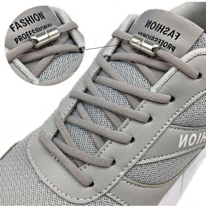 1 par de cordones sin Cordones redondos, cordones elásticos para zapatos para niños y adultos, zapatillas con cordones para perezosos de 15 colores