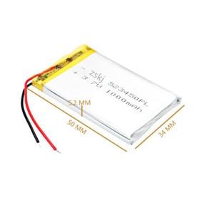 Image 3 - 100% מקורי 1/2pcs 3.7V 1000mAh פולימר ליתיום נטענת סוללה נטענת עבור טלפון חכם DVD MP3 MP4 Led מנורה
