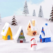 Christmas Snow House Candy Color Resin Craft Gift  Decoration European StyleCM