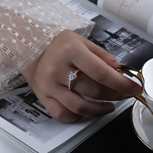 Gold Color Ring Inlaid With Zircon Exquisite Ring Noble Temperament Suitable For Wedding Ring Female Jewelry