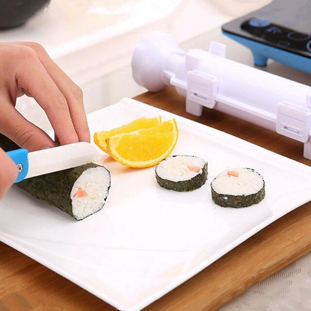 Przyrząd kuchenny do robienia Sushi DIY forma do Sushi kulka ryżu mięso rolada z ciasta formy wielofunkcyjny kuchnia akcesoria Bento Sushi narzędzia