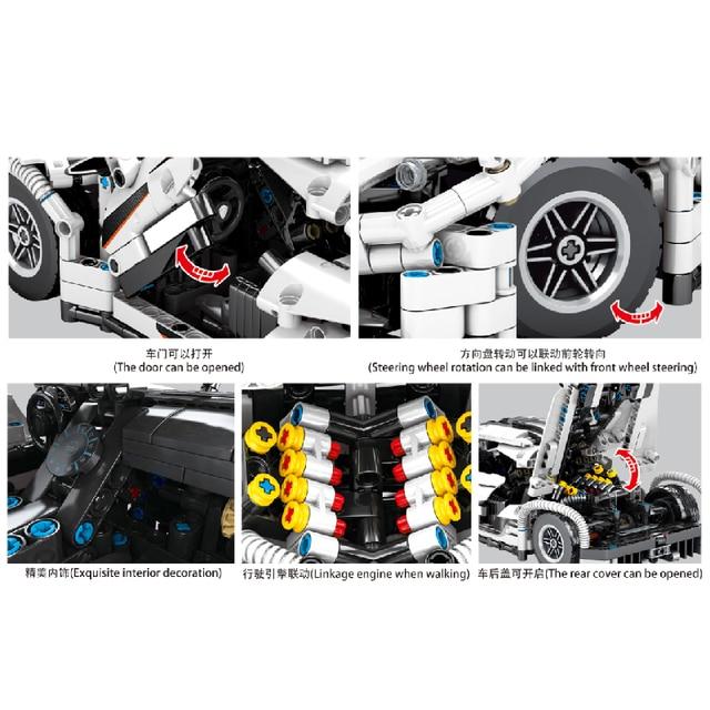 MOC 1275pcs Classic City Sports Car Building Block Model High-Tech Speed Roadster Kid Toy Assembled DIY Bricks birthday Gifts 3