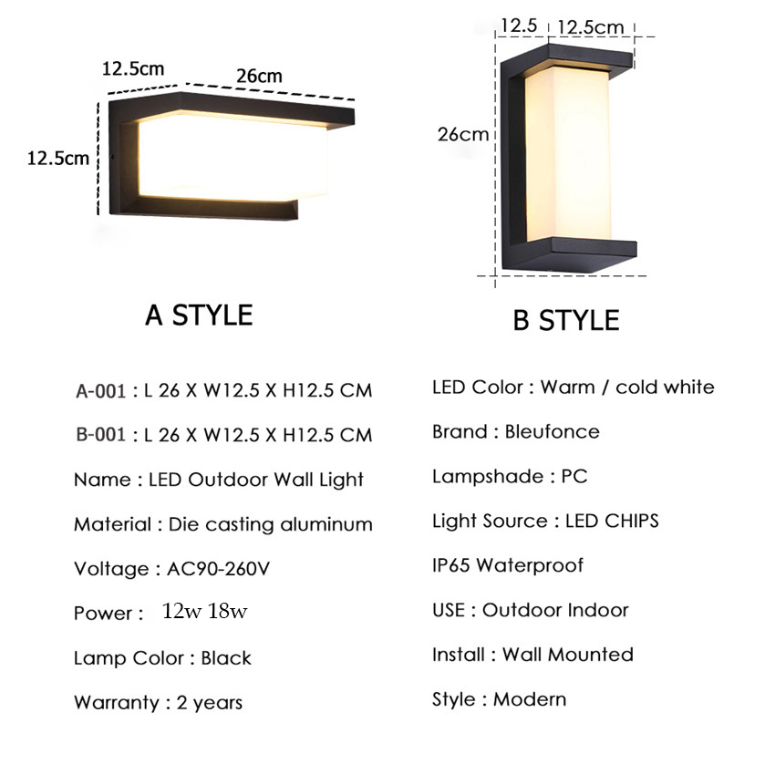 moderno levou parede de luz aluminio 02