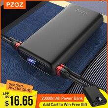 Внешний аккумулятор PZOZ на 20000 мА · ч с портами USB Type C и поддержкой быстрой зарядки