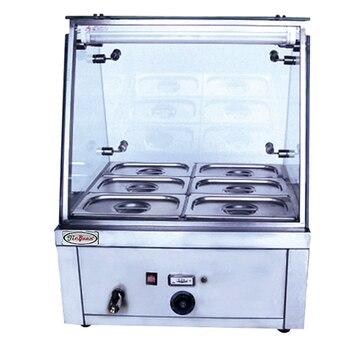 Коммерческий Электрический нагреватель для супа из нержавеющей стали, 6 кастрюль, сохраняющих тепло в фаст-фуде и ресторанах
