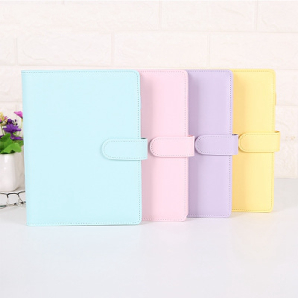 Pu Leather-proof A5 A6 Notebook Diary Schedule Schedule Diary Journal Binder Cute School Supplies Macaron Notebook Notebook